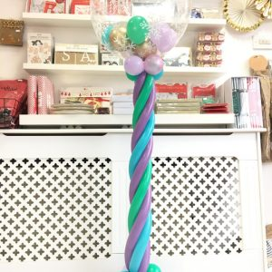 Frozen column helium balloons party theme