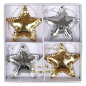 Metallic Star Christmas Ornaments christmas decorations tree advent calendar balloons candles socks bags santa