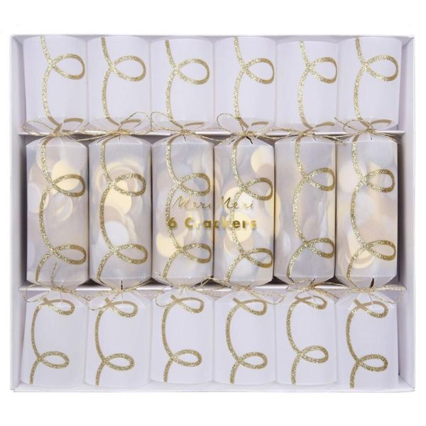 Gold and White Christmas Crackers Party New Year Event Fun Helium
