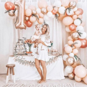 Rose Gold Balloon Arch