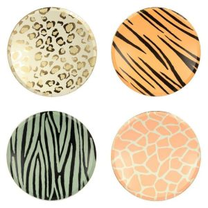 Animal Print dinner plates. Buy your party decorations in Bristol Party Shop best safari birthday