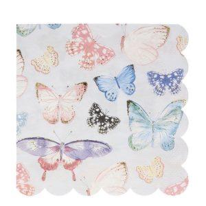 Butterfly large napkins meri meri
