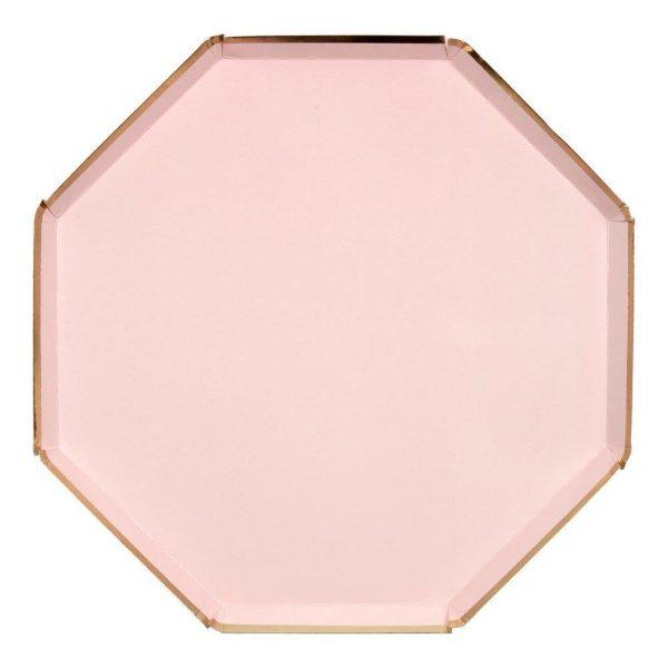Dusky Pink Dinner Plates