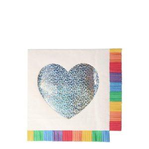 Rainbow Fringe Large Napkins