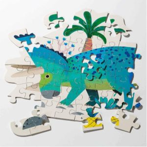 Dinosaur Triceratops Shaped Puzzle