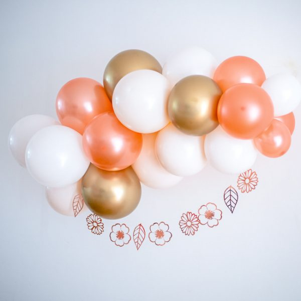 Rose Gold and White Arch