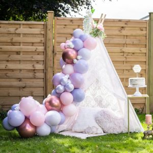 Lilac Pink Balloon Arch