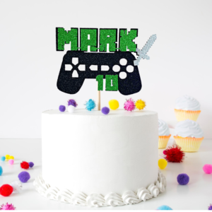 Minecraft Playstation Cake Topper