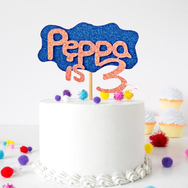 Personalised Peppa Pig Cake Topper