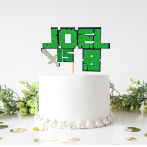 Minecraft Cake Topper with Sword