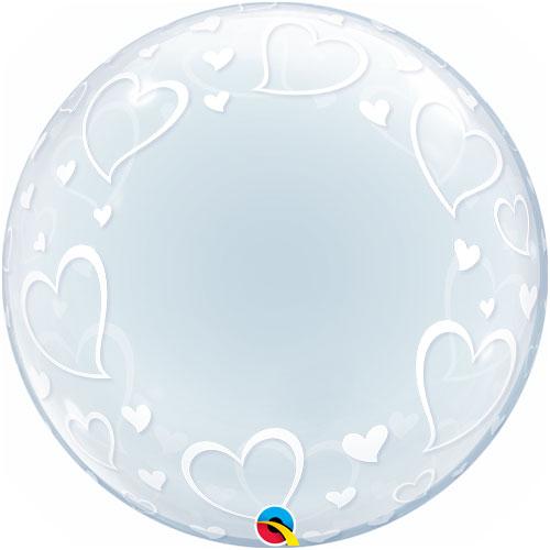 Hearts Bubble Balloon