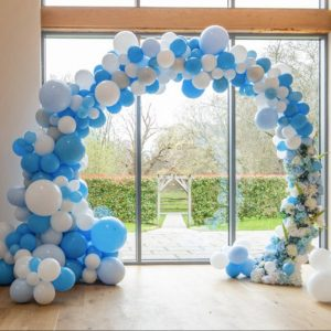 Blue Baby Shower Decoration Balloon Arch