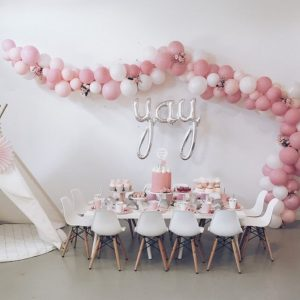 Baby Shower Pink Balloon Arch