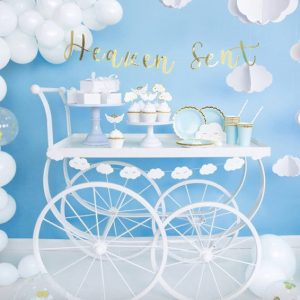 Baby Shower White Balloons Unisex