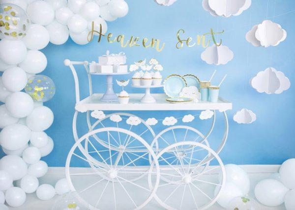 Baby Shower White Balloons Unisex