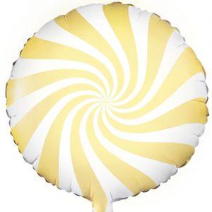 Yellow candy balloon pastel