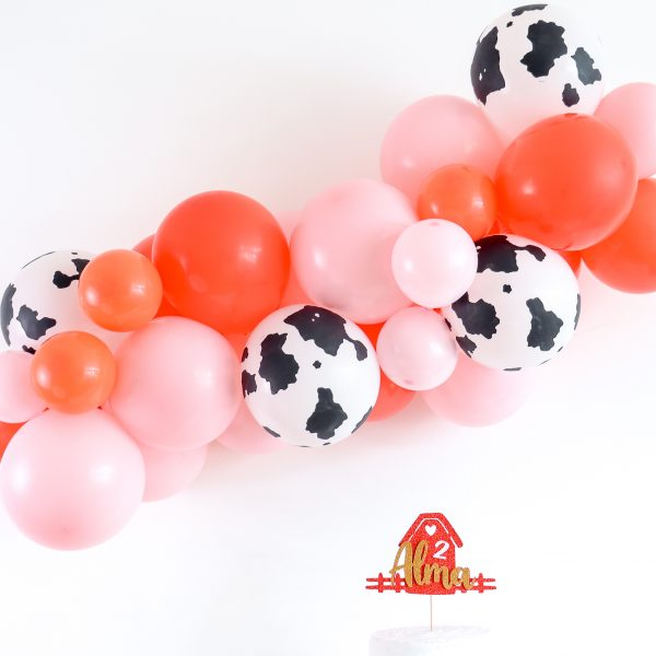 Farm Party Cow Printed Balloons