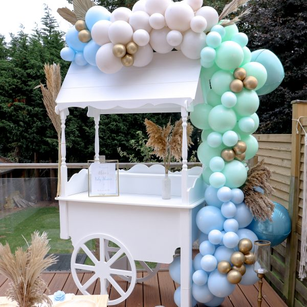 Chalky Blue Balloon Arch