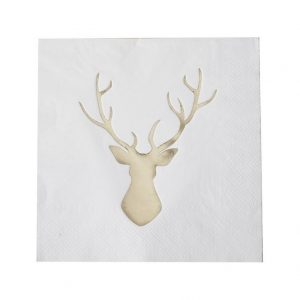 gold stag napkin