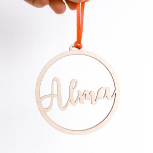 Wooden personalised Bauble