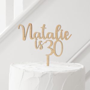 Personalised Wood Cake Topper