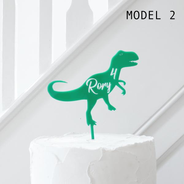 Personalised Dinosaur Cake Topper