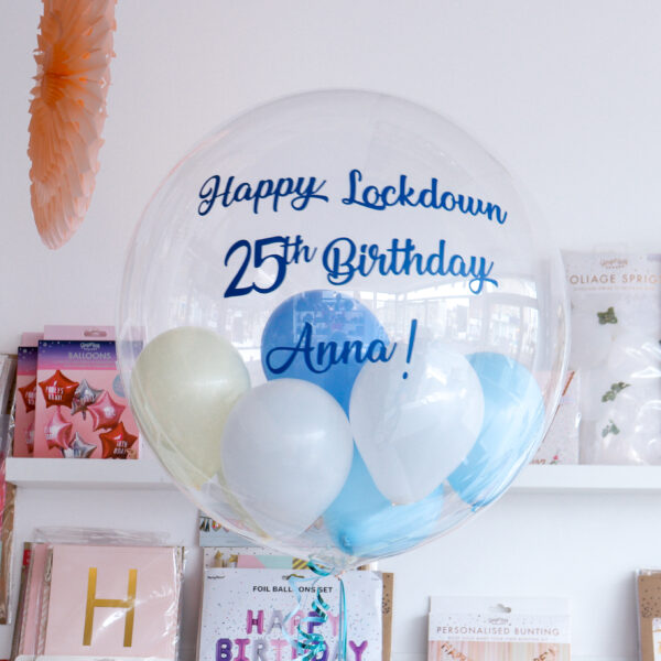 Clear Personalised Bubble Balloon