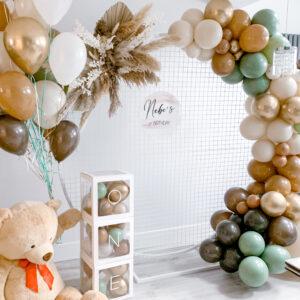 Mocha Balloon Garland