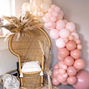 Neutral Pink Balloon Arch