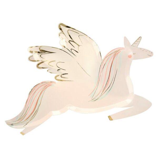 Winged Unicorn plates