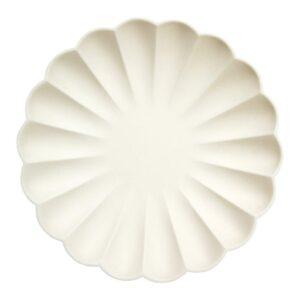 Cream Eco Plates Large