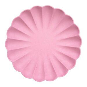 Deep Pink Plates Eco