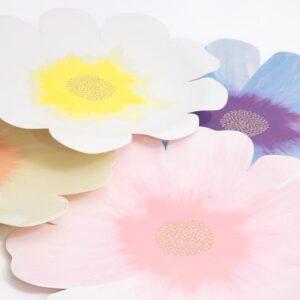 Flower Large Plates Meri Meri