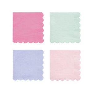 multicolour pastel napkins eco