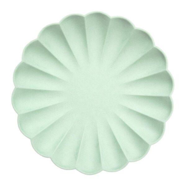 pale mint eco large plates
