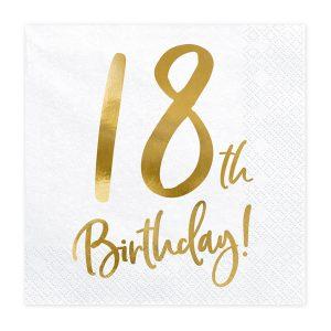 18th Birthday Napkins