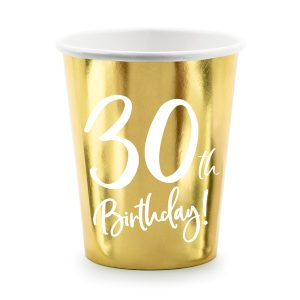 30th Party Cups Gold