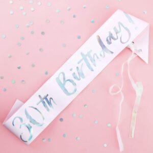 30th birthday sash