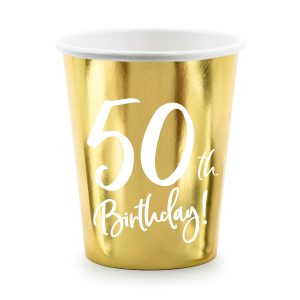 50th Party Cups Gold