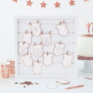 Baby Shower Guest Book with pegs and string