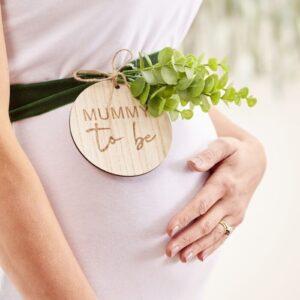 Mummy to be Sash Wood