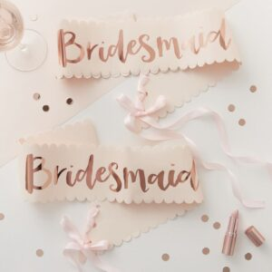 Bridesmaid Sashes Hen Party Rose Gold