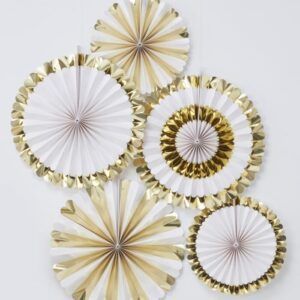 Gold Foiled paper decorations
