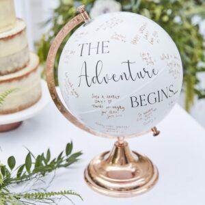 Wedding Globe Guest Book