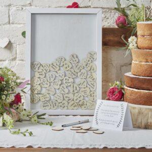 Wedding Guest Book Heart drop Alternative