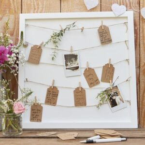 wedding guest book with pegs