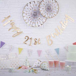 Happy 21st Birthday Bunting