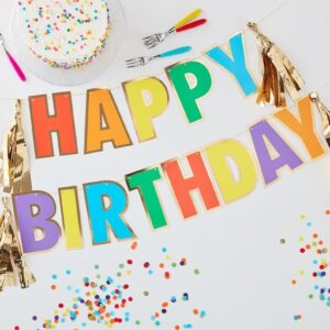 Happy Birthday Rainbow Bunting