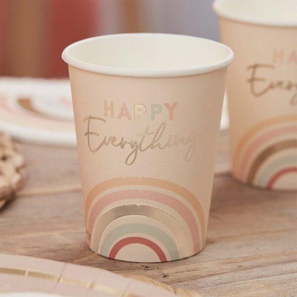 Rainbow pastel happy cups