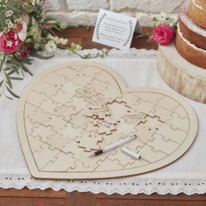 jigsaw wedding guest book